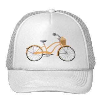 Bicicleta anaranjada gorros