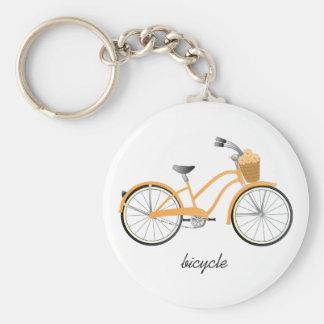 Bicicleta anaranjada llavero personalizado