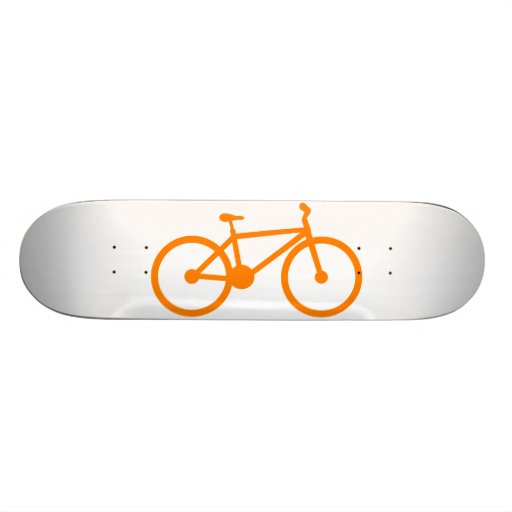 Bicicleta anaranjada patín personalizado