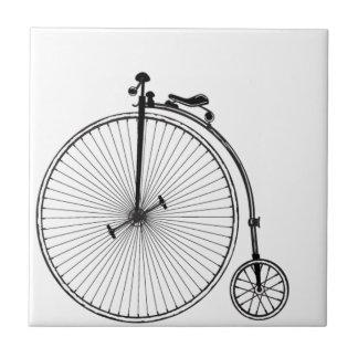 Bicicleta antigua azulejo cuadrado pequeño