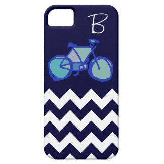 bicicleta azul del galón iPhone 5 funda