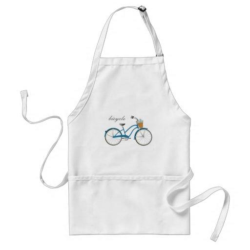 Bicicleta azul delantales