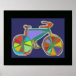 bicicleta. bici/ciclo agradable póster