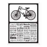 Bicicleta - bicicleta en otros idiomas postal