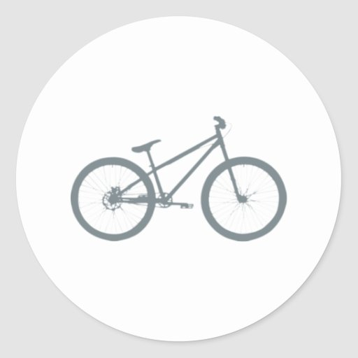 Bicicleta bicycle pegatina redonda