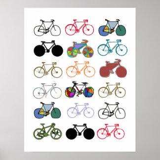 bicicleta - biking + bici póster