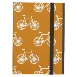 Bicicleta blanca, modelo de ciclo; Naranja quemado