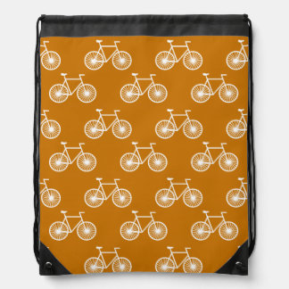 Bicicleta blanca, modelo de ciclo; Naranja quemado Mochilas