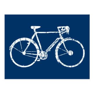bicicleta blanca tarjetas postales