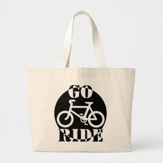 Bicicleta blanco y negro bolsa tela grande