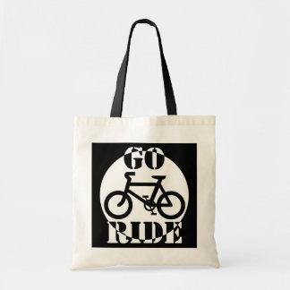Bicicleta blanco y negro bolsa