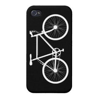 Bicicleta blanco y negro iPhone 4 carcasas