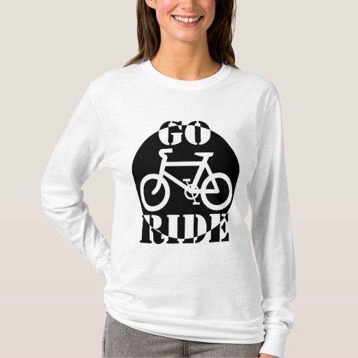 Bicicleta blanco y negro playera