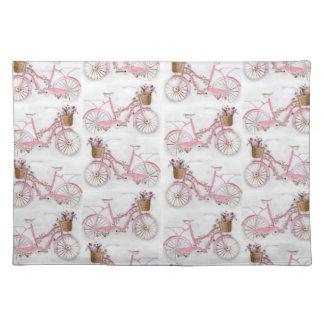 Bicicleta bonita del vintage de la pintura de la manteles