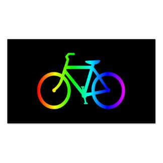 Bicicleta brillante del arco iris de Ombre Tarjetas De Visita