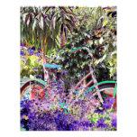 Bicicleta brillantemente coloreada membrete