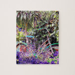 Bicicleta brillantemente coloreada puzzles