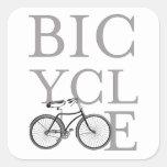 Bicicleta Calcomanías Cuadradass Personalizadas