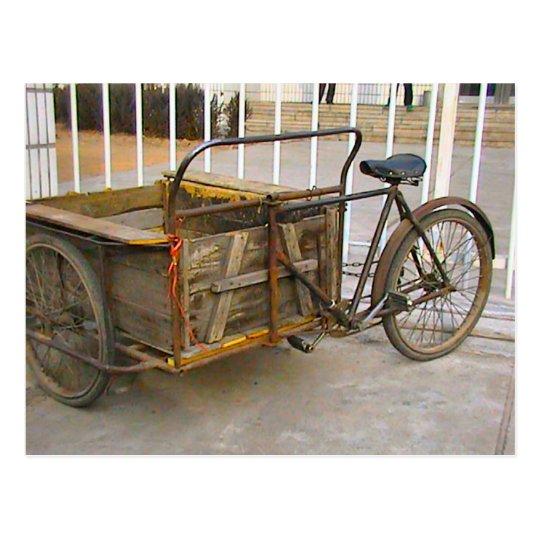 Bicicleta china de la entrega tarjetas postales