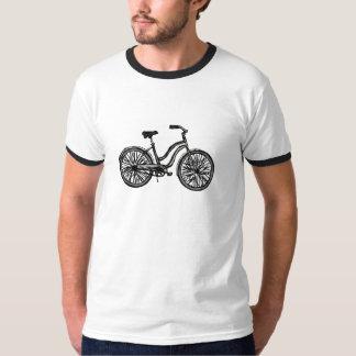 Bicicleta clásica, la camiseta de los hombres del