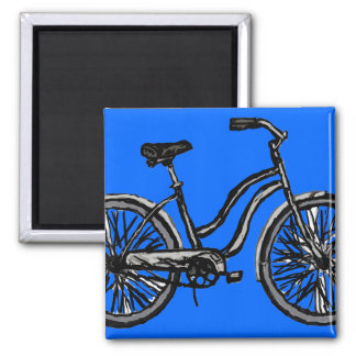 Bicicleta clásica, productos del dibujo lineal imán cuadrado
