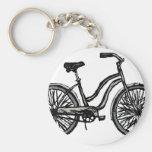 Bicicleta clásica, productos del dibujo lineal llavero