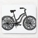 Bicicleta clásica, productos del dibujo lineal alfombrilla de raton