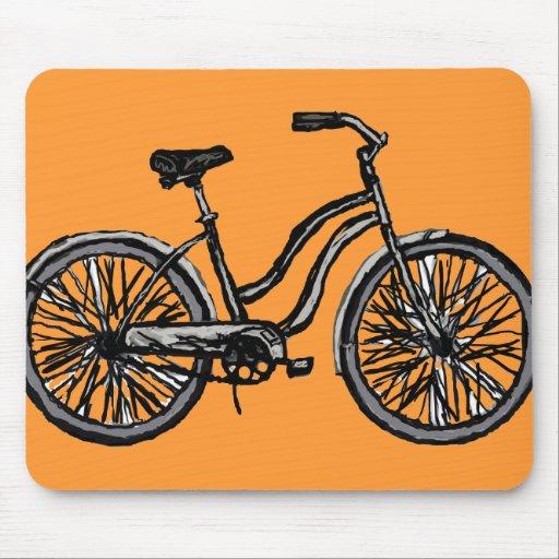 Bicicleta clásica, productos del dibujo lineal tapete de raton