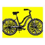 Bicicleta clásica, productos del dibujo lineal tarjetas postales