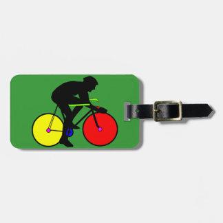 Bicicleta coloreada multi de la bici etiquetas para equipaje