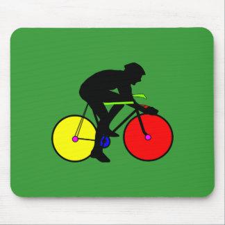 Bicicleta coloreada multi de la bici alfombrillas de raton