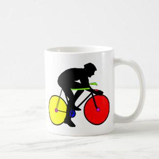 Bicicleta coloreada multi de la bici taza de café