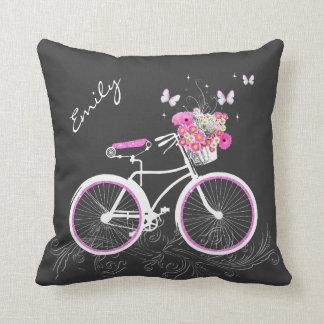 Bicicleta con la almohada de tiro de encargo de la