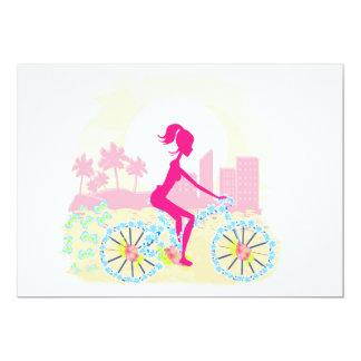 Bicicleta con la invitación de la ciudad