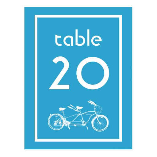 Bicicleta construida para dos números de la tabla tarjetas postales