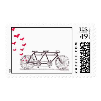 Bicicleta construida para el franqueo de dos sellos postales