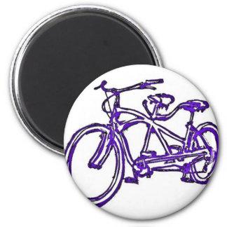 Bicicleta construida para la bici 2 (del tándem an imán redondo 5 cm