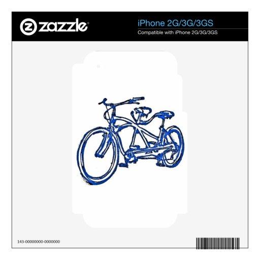 Bicicleta construida para la bici 2 (del tándem an iPhone 2G calcomanías