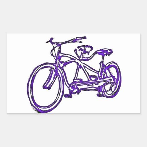 Bicicleta construida para la bici 2 (del tándem rectangular pegatinas