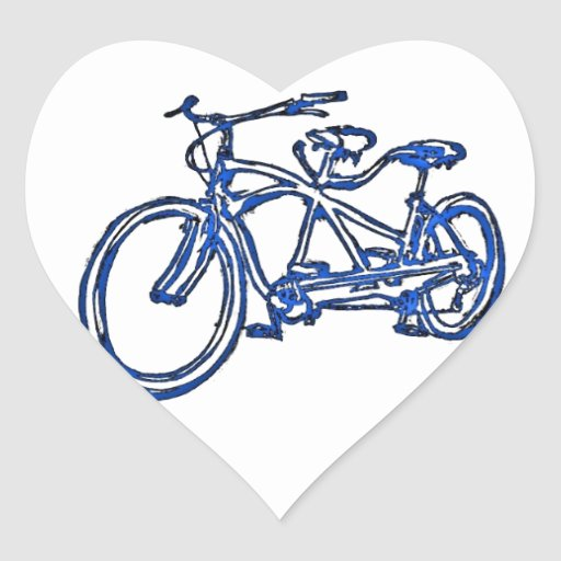 Bicicleta construida para la bici 2 (del tándem pegatina en forma de corazón