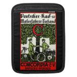 Bicicleta de 1925 alemanes y club de la motociclet funda para iPads