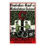 Bicicleta de 1925 alemanes y club de la motociclet imán