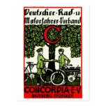 Bicicleta de 1925 alemanes y club de la motociclet postal