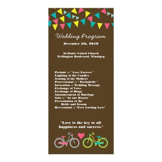 bicicleta de 25 del boda 4x9 del programa del amor tarjeta publicitaria personalizada
