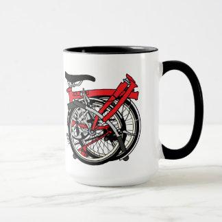 Bicicleta de Brompton doblada