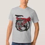 Bicicleta de Brompton doblada Remeras