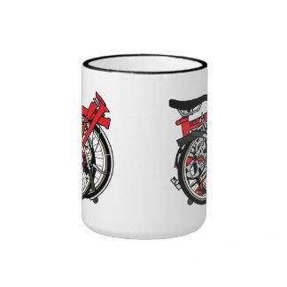 Bicicleta de Brompton doblada Taza A Dos Colores