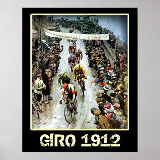 Bicicleta de ciclo 1912 de las fans de deportes de impresiones