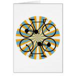 Bicicleta de ciclo de la bici felicitacion