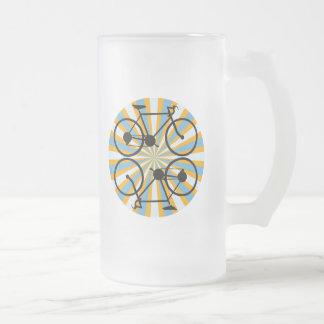 Bicicleta de ciclo de la bici jarra de cerveza esmerilada